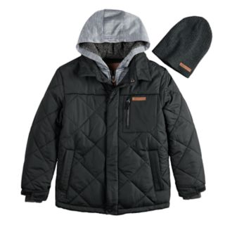 Boys 8-20ZeroXposur Kylo Quilted Jacket & Hat