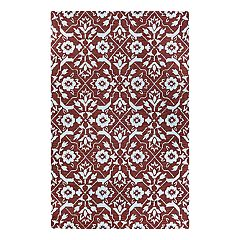 Couristan Crawford Tulip Floral Lattice Wool Blend Rug