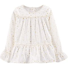 Girls 4-12 Carter's Star Peplum-Hem Top