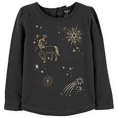 Girls 4-12 Carter's Glittery Unicorn Tee