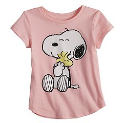 Baby Girl Jumping Beans® Peanuts Snoopy & Woodstock Graphic Tee