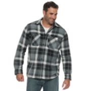 Big & Tall Anchorage Expedition Plaid Sherpa-Lined Fleece Shirt Jacket