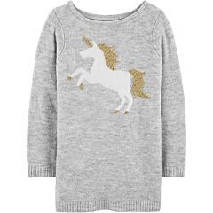 Girls 4-12 Carter's Lurex Unicorn Sweater