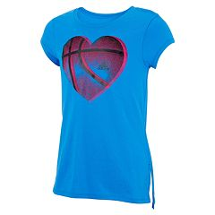 Girls 7-16 adidas Heart Basketball Graphic Tee