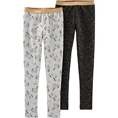 Girls 4-12 Carter's 2 Pack Unicorn & Stars Leggings