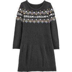 Girls   Carters Dream Fairisle Sweaterdress