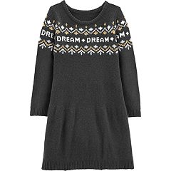 Girls 4-12 Carter's 'Dream' Fairisle Sweaterdress