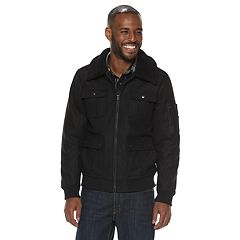 Men's Rock & Republic Sherpa-Collar Wool Jacket