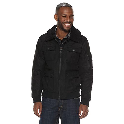 Men's Rock & Republic Sherpa-Collar Wool Jacket