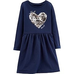 Girls 4-12 Carter's 'Wild At Heart' Flip-Sequin Fleece Dress