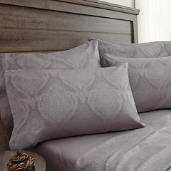 Grand Collection Buckingham 800 Thread Count Jacquard Damask Sheet Set with Extra Pillowcases