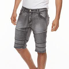 Men's XRAY Slim-Fit Washed Moto Stretch Denim Shorts