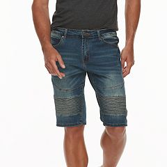 Men's XRAY Slim-Fit Moto Stretch Denim Shorts