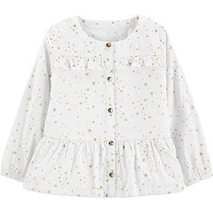 Toddler Girl Carter's Star Peplum-Hem Shirt