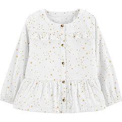 Toddler Girl Carter's Star Peplum-Hem Shirt