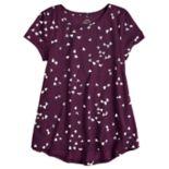 Girls 7-16 & Plus Size SO® Short Sleeve Tunic Tee