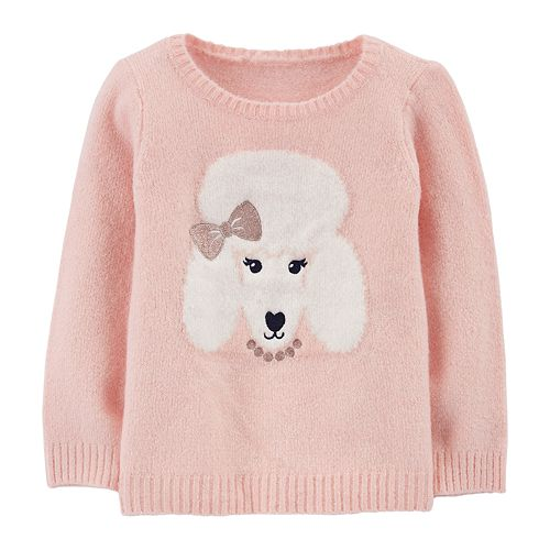 Toddler Girl Carter's Lurex Poodle Sweater