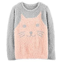 Girls 4-12 Carter's Fuzzy Cat Sweater