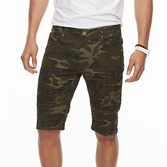 Men's XRAY Slim-Fit Camo Moto Stretch Denim Shorts