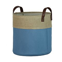 Basketville Round Canvas Storage Bin
