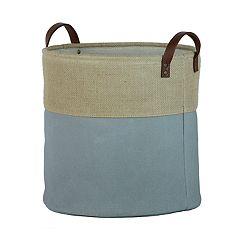 Basketville Round Canvas Storage Bin