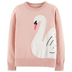 Girls 4-12 Carter's Fuzzy Swan Sweater