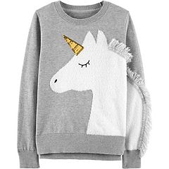 Girls 4-12 Carter's Fuzzy Unicorn Sweater