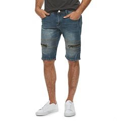 Men's XRAY Slim-Fit Embossed Stretch Denim Shorts