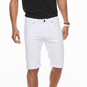 5dab333e1e Men's XRAY Slim-Fit Washed Moto Stretch Denim Shorts. Sale