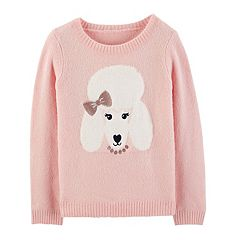 Girls 4-12 Carter's Lurex Poodle Sweater