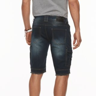 Men's XRAY Slim-Fit Moto Stretch Denim Cargo Shorts