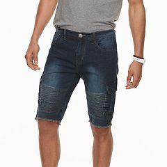 Men's XRAY Slim-Fit Moto Stretch Denim Cargo Shorts