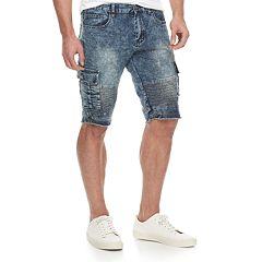 b78e326fb2 Men's XRAY Slim-Fit Moto Stretch Denim Cargo Shorts