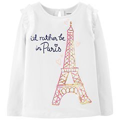 Girls 4-12 Carter's Sequined Eiffel Tower Tee