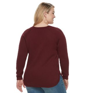 Plus Size SONOMA Goods for Life? Cable Knit Sweater