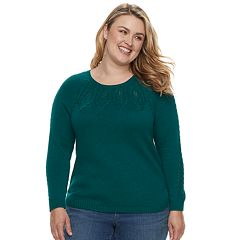 Plus Size SONOMA Goods for Life™ Cable Knit Sweater