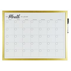 Belle Maison Over-The-Door 'Month' Dry Erase Board 2-piece Set
