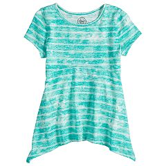Girls 7-16 SO® Shark-Bite Hem Tee