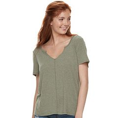 Juniors' Mudd® Notch Neck Tee