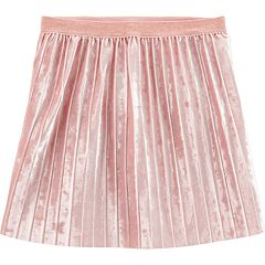Girls 4-12 Carter's Pleated Velvet Skirt