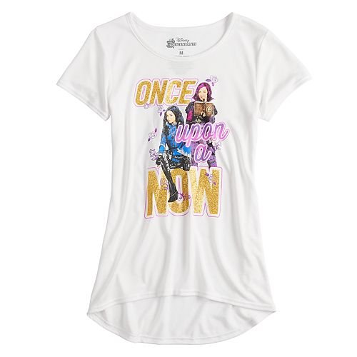 """Disney's Descendants Girls 7-16 """"Once Upon A Now"""" Graphic Tee"""