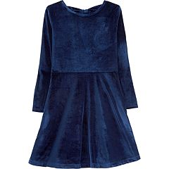 Girls 4-12 Carter's Velvet Bow Dress