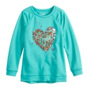 Girls 4-12 SONOMA Goods for Life? Shirred Glittery Graphic French Terry Tunic
