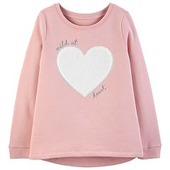 Girls 4-12 Carter's 'Wild At Heart' Fleece Sweatshirt