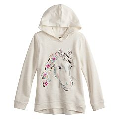 Girls 4-12 SONOMA Goods for Life® Sequined Graphic French Terry Hoodie