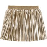 Toddler Girl Carter's Pleated Metallic Skirt