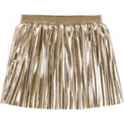 Toddler Girl Carter's Pleated Metallic Skirt