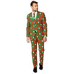 Men's OppoSuits Slim-Fit Treemendous Suit & Tie Set
