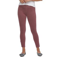 Women's Utopia by HUE Felted Twill Jean Skimmer Leggings