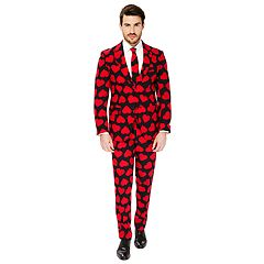 Men's OppoSuits Slim-Fit King of Hearts Suit & Tie Set